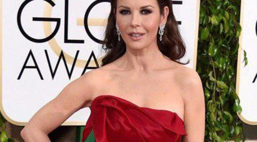Catherine Zeta-Jones,  la flamenca del WhatsApp más viral de los Globos de Oro 2015