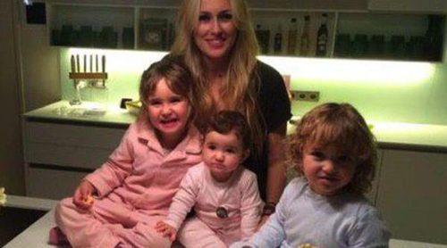 Carolina Cerezuela sopla las velas de su 35 cumpleaños con Carlos Moyá y sus tres hijos