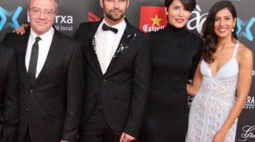 Jesús Castro, Bárbara Lennie y Eduard Fernández celebran la victoria de 'El niño' en los Premios Gaudí 2015