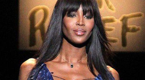 Naomi Campbell desfila por una buena causa en la semana de la moda de Nueva York