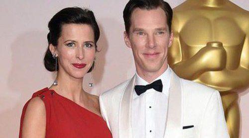 Benedict Cumberbatch y Sophie Hunter se estrenan como marido y mujer en los Oscar 2015
