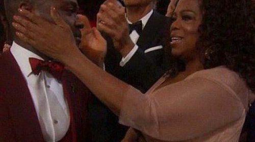 Oprah Winfrey, David Oyelowo, Jessica Chastain y Chris Pine, emocionados con la actuación de John Legend y Common en los Oscar