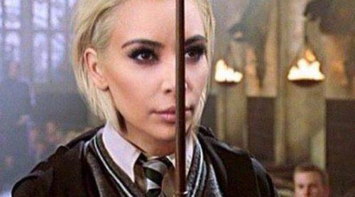Tom Felton convierte a Kim Kardashian en Draco Malfoy de 'Harry Potter' tras su radical cambio de look