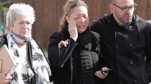 Gemma Fuster, rota de dolor por su novio Pedro Reyes en la capilla ardiente