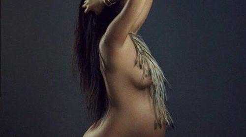 Al natural: Kourtney Kardashian muestra una imagen de ella posando desnuda embarazada