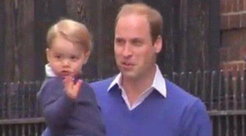 El Príncipe Jorge acude a ver a su hermana pequeña junto al Príncipe Guillermo