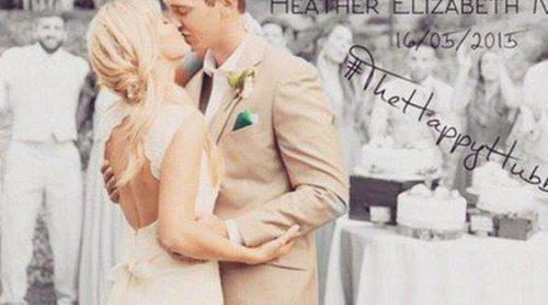 Así fue la boda de cuento de hadas de la actriz de 'Glee' Heather Morris y Taylor Hubbell