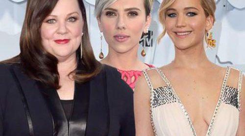 Jennifer Lawrence, Scarlett Johansson y Melissa McCarthy lideran la lista de las actrices mejor pagadas del año