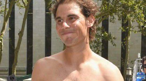 Rafa Nadal se desnuda durante un partido de tenis en Nueva York bajo la atenta mirada de Xisca Perelló
