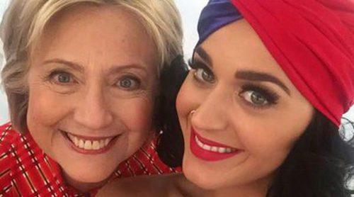 Katy Perry saca su lado más patriótico apoyando la campaña electoral de Hillary Clinton