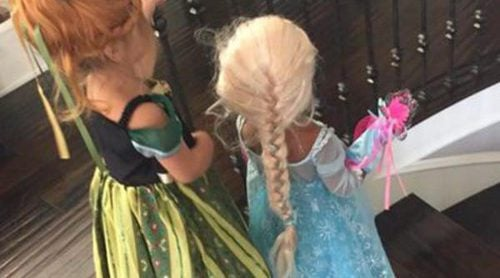 Las Kardashian adoran 'Frozen': North West y Penelope Disick se convierte en las Princesas Elsa y Anna