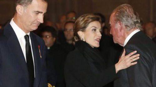 Felipe y Letizia, Juan Carlos y Sofía: Póker de Reyes en el funeral del Infante Carlos