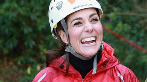 Kate Middleton, una 'royal' muy intrépida y divertida en un día de escalada con el Príncipe Guillermo