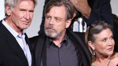 Harrison Ford, Carrie Fisher y Mark Hamill se reúnen en el estreno mundial de 'Star Wars: El Despertar de la Fuerza'