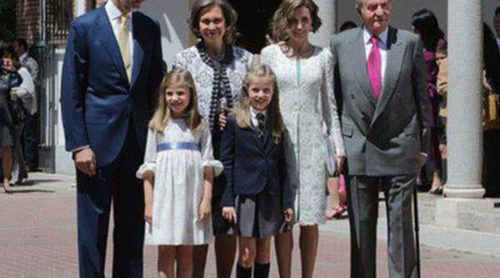 Los Reyes Felipe y Letizia, Juan Carlos y Sofía, la Princesa Leonor y la Infanta Sofía, juntos por Navidad