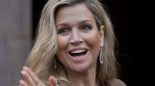 La Reina Máxima de Holanda saca su mejor sonrisa tras el susto de salud que sufrió su padre