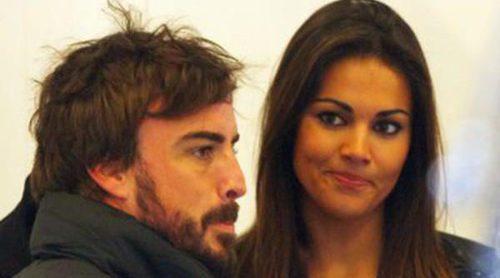 Lara Álvarez se divierte en la nieve mientras Fernando Alonso se prepara para la vuelta de la Fórmula Uno