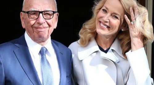 Rupert Murdoch y Jerry Hall se casan por lo civil en un lujoso palacio de Londres