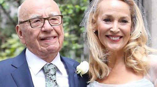 Jerry Hall y Rupert Murdoch paralizan Londres con su boda religiosa en la Iglesia de St. Bride