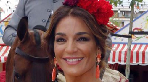 Raquel Bollo, Rosa Benito y Gloria Camila, las más flamencas de la Feria de Abril 2016