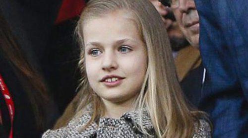 La Princesa Leonor, una pequeña rojiblanca que disfrutó de su primer partido en el Calderón muy atenta a todo