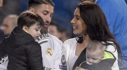 Los hijos de Pilar Rubio y Sergio Ramos y el hijo de Cristiano Ronaldo se lo pasan en grande con la undécima Champions del Real Madrid