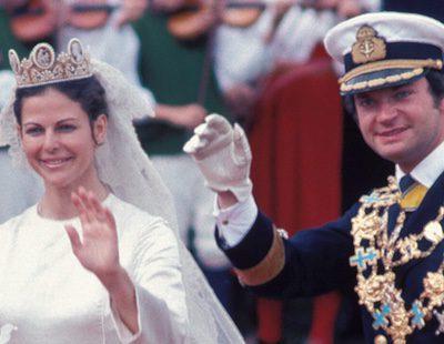 Los 40 años de matrimonio de los Reyes Carlos Gustavo y Silvia de Suecia en 4 momentos clave