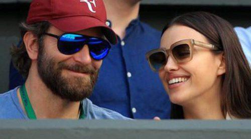 La complicidad de Irina Shayk y Bradley Cooper en las gradas de Wimbledon 2016