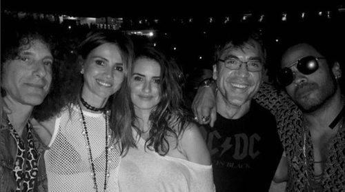Javier Bardem y Penélope Cruz disfrutan del concierto de Lenny Kravitz en Nueva York