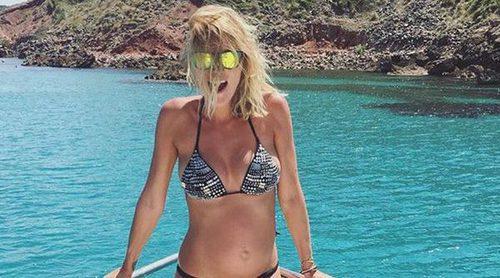 Amaia Salamanca luce embarazo en bikini mientras disfruta del verano