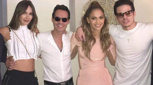 Dos ex bien avenidos: Jennifer Lopez y Marc Anthony posan en la misma fotografía