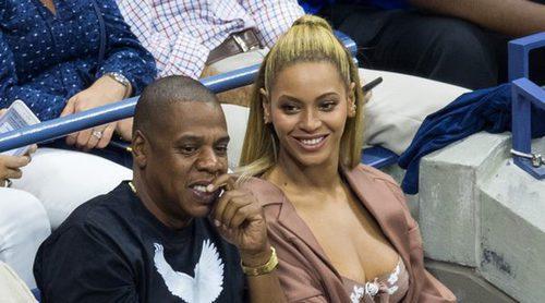 Beyoncé y Jay Z disfrutan juntos del partido de Serena Williams en el US Open en Nueva York