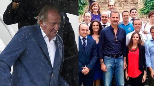 El Rey Juan Carlos vuelve al trabajo mientras el Rey Felipe disfruta de un fin de semana muy ocioso