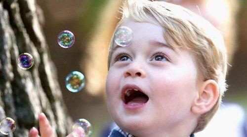 Los Príncipes Jorge y Carlota, dos niños adorables en una fiesta infantil en Canadá