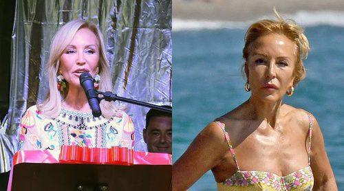 Carmen Lomana alarga el verano: noche de fiesta en Ojén y jornada playera en Marbella