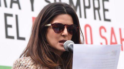 Clara Lago apoya al pueblo saharaui en una manifestación en Madrid