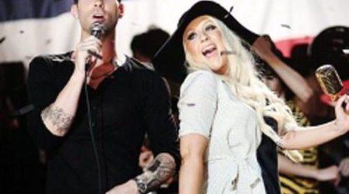 Christina Aguilera pone en evidencia a Adam Levine, líder de Maroon 5