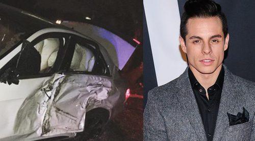 Casper Smart sufre un aparatoso accidente al chocar su coche contra un árbol