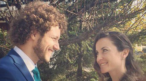 Daniel Diges y Alejandra Ortiz-Echagüe se casan en Madrid en una romántica y fría boda