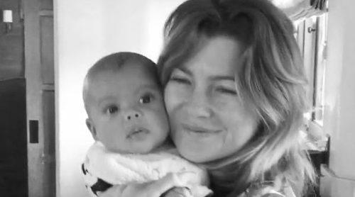 Ellen Pompeo presenta a su bebé recién nacido