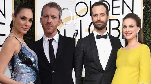 Natalie Portman, Gal Gadot y Saffron Burrows lucen embarazo sobre la alfombra roja de los Globos de Oro 2017
