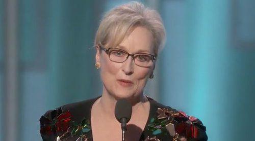 Meryl Streep azota a Donald Trump en su discurso de los Globos de Oro 2017
