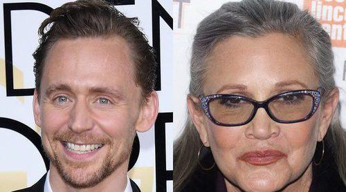 Tom Hiddleston rinde homenajea a Carrie Fisher en su discurso de los Globos de Oro 2017