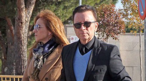 Susanna Griso apoya a José Ortega Cano en el funeral de su hermano Eugenio Ortega Cano