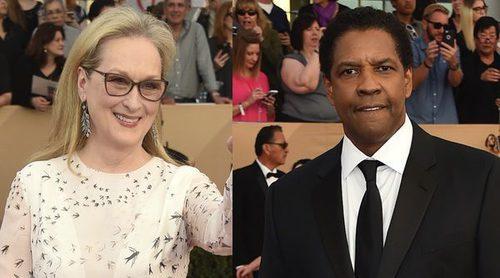 Natalie Portman, Meryl Streep o Denzel Washington entre los famosos de la alfombra roja de los SAG Awards 2017