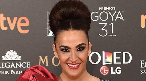 Cristina Rodríguez, muy bien acompañada en la alfombra roja de los Premios Goya 2017