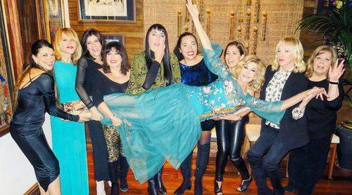 Bibiana Fernández celebra su 63 cumpleaños junto a Hiba Abouk, Mario Vaquerizo y Rossy de Palma