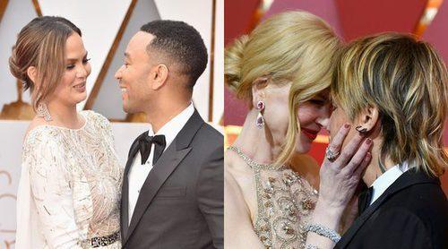 Nicole Kidman y Keith Urban, John Legend y Chrissy Teigen y Jessica Biel y Timberlake: todo amor en los Oscar 2017