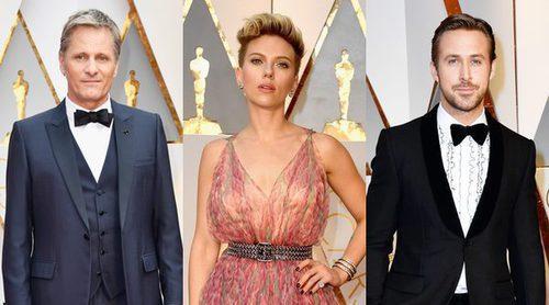 Los misteriosos acompañantes de Viggo Mortensen, Scarlett Johansson y Ryan Gosling