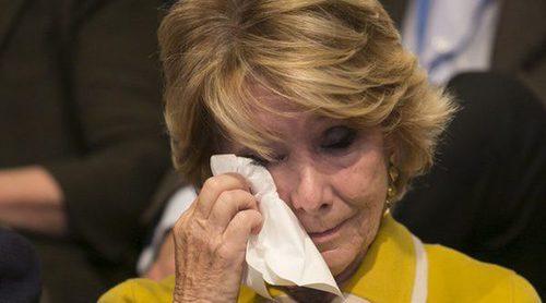 Las lágrimas de emoción de Esperanza Aguirre en su adiós en el Congreso del Partido Popular